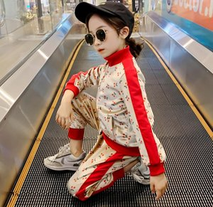 Autumn New Style Children's Clothing Fashion Foreign Style Children's Velvet Sweater Girls' Sports Two Piece Suit