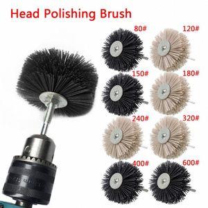 Nylon Wheel Brush 1pc Abrasive Wire Grinding Flower Head Abrasive Woodwork Polishing Brush Bench Grinder For Wood Furniture 4lqj#