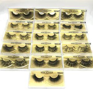 20 mm 22mm 3D Vison Cils 16 Styles Faux Cils 5D Vison Cils Cils Extension naturelle Fulffy Mink Maquillage Cils