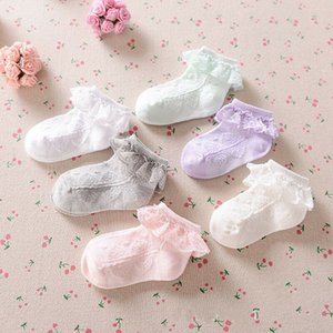 0-5Y Newborn Toddler Baby Cotton Socks Lace Princess Combed Socks for Girls Infant Babe