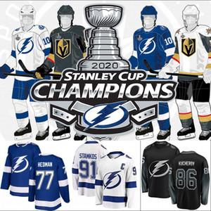 2020 Stanley Cup Champions Tampa Bay Lightning Brayden Point Ondrej Palat Jersey Andrei Vasilevskiy Ondrej Palat Victor Hedman Kucherov