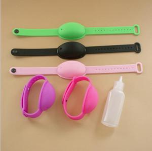 Refill Silikon-Armband Hand Sanitizer Armband-Zufuhr mit der Leerflasche nehmen Gewohnheit Logo wiederverwendbare und justierbares Armband