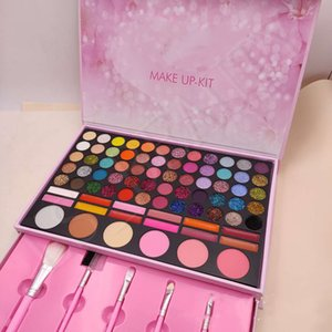 KL Makeup kit Eyeshadow Palette Blush Powder 78 Colors Complete Make Up Set Matte Shimmer matte nude shimmer eye shadow with brush gift box