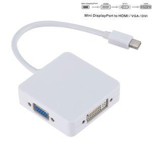 3 в 1 мини-DP к HDMI VGA DVI конвертер Mini Display Port Cable Adapter к HDMI DVI VGA для MacBook Lenovo Microsoft