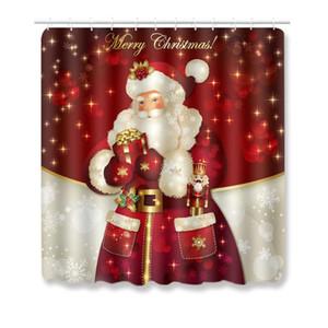 3pcs Non-Slip Natal decorativo banho printGrip vaso sanitário sets mat banheiro Acessórios Capachos Início de Ano Novo 2021