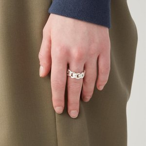 Hip Hop Ambush Ring 19ss New Cuban Chain Rings 925 Silver Ring Men and Women Couples Personal Bijoux Christmas Gifts