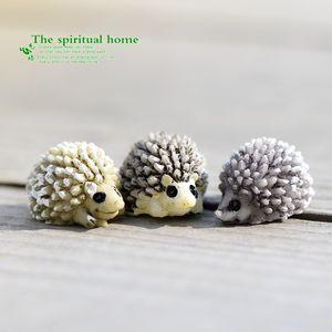 Microlandschaft Mini animal Hérisson Figurine Fée Paysage Paysage Ecologie Props Artisanat miniatures Résine Outils Bonsai Moss 0 6cj C