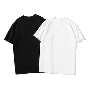Famous Mens High Quality T Shirt Letter Print Round Neck Short Sleeve Black White Fashion Men Women High Quality Tees