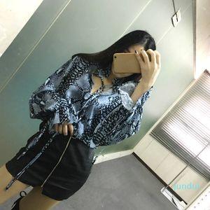 Venda Hot Lady Dayly Vestuário Womens Designer camisa do leopardo elegante da cópia do leopardo Blusas Mulher designer Camisas Casual Escritório