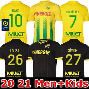 20 21 FC Nantes футбол Джерси дома вдали Майо-де-футовые 2020 футбольные наборы 2021 SIMON LOUZA TOURE BLAS COCO КУЛИБАЛИ ВЗРОСЛЫХ МУЖЧИН ДЛЯ ДЕТЕЙ