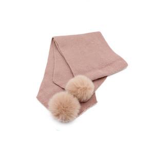 Новые поступления Time-Limited Конструкторы Внешнеторговая Big Sale Winter Warm Hat Дети Rabbit Fur Real Fur Ball вязаная шапка шарф Бесплатная доставка