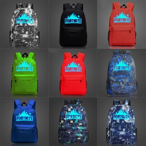 Pirate Fortnite Festung Nacht Luminous Rucksack Sea Rover Daypack Schädel Schoolbag Gut Badge Rucksack Sport School Bag Outdoor Day Pack # 124
