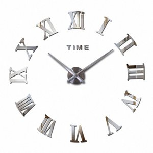 Vente en gros 2016 Hot Fashion Quartz Home Decor Ltd vente 3d Big Mirror Diy réel Horloge murale design moderne Chambre très grand cadeau W IPGR #