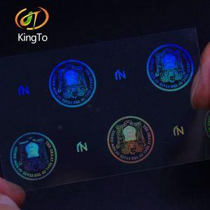 película holográfica transparente de superposición personalizada 3d original de seguridad transparente del holograma etiqueta engomada adhesiva Holo