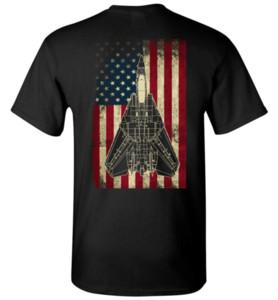 MÜTHİŞ F-14 EKRAN ABD FLAG Erkekler T Shirt