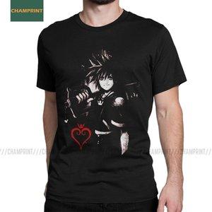 Kingdom Hearts Tişört Erkekler Sora Video Oyunu Square Enix Keyblade Casual Pamuk Tees O Yaka Kısa Kollu T Shirt Yaz Tops için