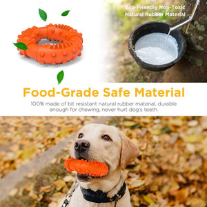 Dog toy bite-resistant and wear-resistant rubber dog molar ring pet toy donut toy pet have fun