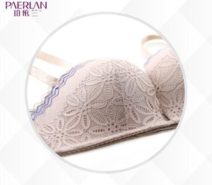PAERLAN Half 1 2 Cup Little Bra Seamless Braush Push Up Wedding Dress bra memory soft Underwire sexy lace Floral Women99
