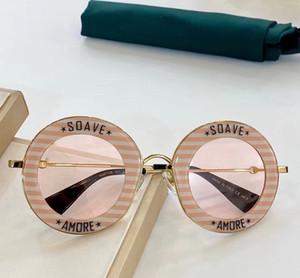 Nova 0113S bonita da forma dos óculos de sol Retro Rodada Kaleidoscope Sunglasses Homens e Mulheres Designer Kaleidoscope goggles praia Outdoor