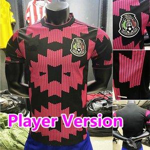 Giocatore versione 20 21 Messico Soccer Jerseys Away H.lozano Dos Santos Chicharito 2020 2021 National Team Football Uniform Men Kids Set Shirt