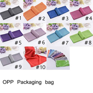 10 Colors Ice Cold Towel 30*80cm Double layers Quick Dry Soft Breathable Cooling Towel Summer Anti Sunstroke Sports Towels Wholesale 1