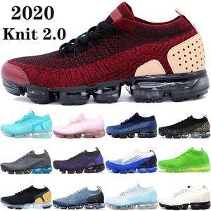 Yeni varış kırmızı ayakkabılar üçlü siyah beyaz gece yarısı lacivert sinek erkekler kadınların spor ayakkabıları ceket paketi takımı çalıştıran 2.0 1.0 mens örme