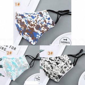 Thin camo Maske earloop für Männer und Frauen verstellbaren Sommer weiche atmungsaktive Outdoor-Tarnung Designer Adult Masken FFA4022-1 q9Ca #
