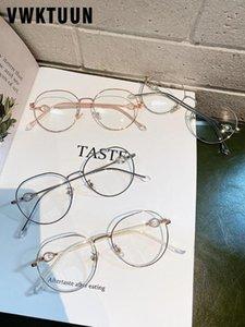 Очки Имитация Pearl Направление Оптические Frame VWKTUUN Женского Vintage Blue Light Blocking очки Круглый Женщина компьютер