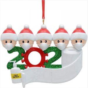 شجرة عيد الميلاد زخرفة 2020 عائلة 2 3 4 5 6 7 سانتا كلوز حزب Distancin قلادة زينة عيد الميلاد الديكور الاجتماعية Seashipping LJJP452