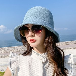 Hat women's small eaves sunshade sunscreen wild summer sun hat edge ladies sandals anti-ultraviolet straw