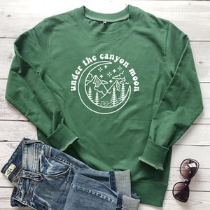Under The Canyon lua moleton Harry Styles Mulheres Hoodies Aesthetic Montanha gráfico Jumpers Outono Tops Dropshipping T200828