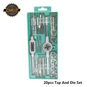 핸드 툴 20PCS 높은 품질 탭 및 다이 세트 나사 탭 및 조절 렌치 1 / 8-1 / 2 3mm-12mm 나사 다이스