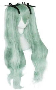 Details about Vocaloid Hatsune Miku Double Green Ponytails Synthetic Cosplay Wig For Women