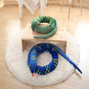 Uyku yüksek kalite ile boa yılanı peluş oyuncak sevimli yazılım tutma yastık bebek büyük Zulmetmekte diğerleri kapris
