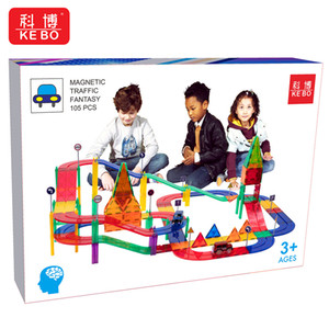 Children puzzle enlightenment magnetic toys magnetic traffic fantasy more accessories high quality both boy and girl