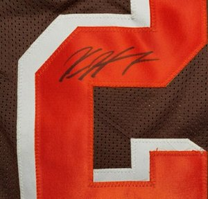 Kareem Hunt qualsiasi tutti i giocatori Firmato signatured Autografato qualsiasi squadra tutti gli sport camicie Jersey