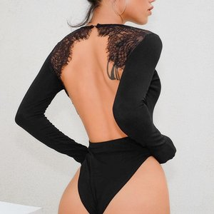 Nova 2020 costura nova sexy underwear underwear rendas sem encosto corpo sexy body-shaping jumpsuit Autumn corpo-shaping macacão bO68P