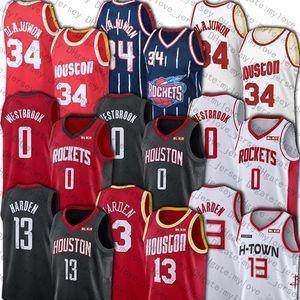 HoustonRocketsJersey James Harden 13 maillots de Russell 0 Westbrook Jersey Hakeem Olajuwon 34 Retro Jerseys