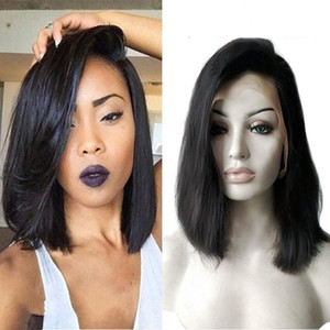 H Bella Hair ?Glueless Wigs Bob Cut Wigs Human Hair Bob Full Lace Wig For Black Women Full Cuticle Short Bob Lace Wigs Freeshipping