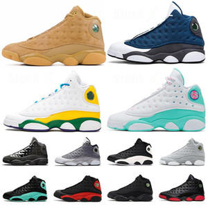 2020 Basketball Shoes 13 New Jumpman 13s Flint Men Women Lucky Sports Sneakers Green Playground Lakers Island Green Phantom Chicago Trainers