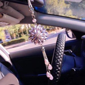 눈 상감 자동차 다이아몬드 크리스탈을 드릴 전체 업그레이드 차량에 로맨틱 한 펜던트 매달려 펜던트 리어 뷰 미러 깜박이