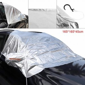 3L Auto Aluminum Foil Composite Cotton UV Ice Snow Protector Dustproof Car Clothing Cover With 4 Hook And Reflective Strip MMkR#