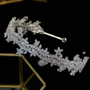 ASNORA Уникальный дизайн Tiara новый свадебный кристалл ювелирных тиара волос аксессуары свадьба циркония оголовье свадебный венец rFUP #