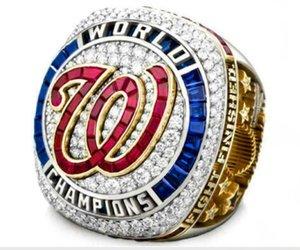친구를위한 2020 도매 워싱턴, 2019 -2020 전국 월드 시리즈 챔피언 야구 팀 우승 반지 TideHoliday 선물