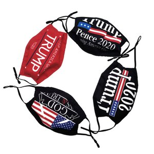 Donald Trump Face Mask American Election Print Dustproof Face Masks Adults Anti-UV Washable Face Mask Outdoor Sports Washable Masks 2020