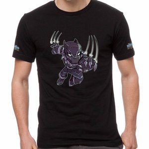 Kara Panter Wakanda Sonsuza Superhero Marvel% 100 Pamuklu Tişört Bla-0005 Genç Doğal Pamuk Baskılı Üst Tee Gömlek