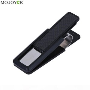 Latest Stainless Steel Alloy Mens Money Clip Wallet Women Slim Metal Money Holder Couple Safe ID Card Clip Clamp