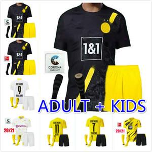 HAALAND 9 RISCHIO 10 Borussia Dortmund 20 21 Jersey di calcio Emre Can 23 2020 2021 maglia di calcio SANCHO REUS Hummels gli uomini + bambini