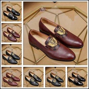 19SS Party Chaussures Homme élégant Designer Mocassins Italian Coiffeur Mode Hommes Chaussures Robe de mariée Chaussures Homme formelle luxurys Ayakkabi Marques