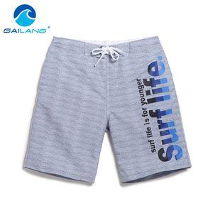 Gailang Marca Hombres Playa Junta Shorts calzoncillos Trunks Bañadores de secado rápido de los hombres de los trajes de baño Casual boxeadores Bottoms